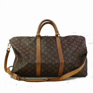 Auth Louis Vuitton Keepall Bandoliere 50 #1078L36
